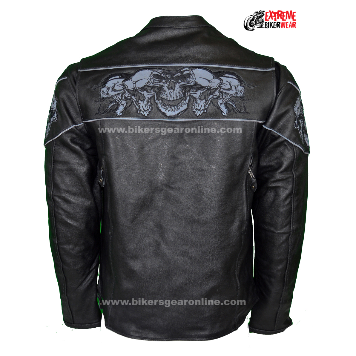 Leather jackets with skulls