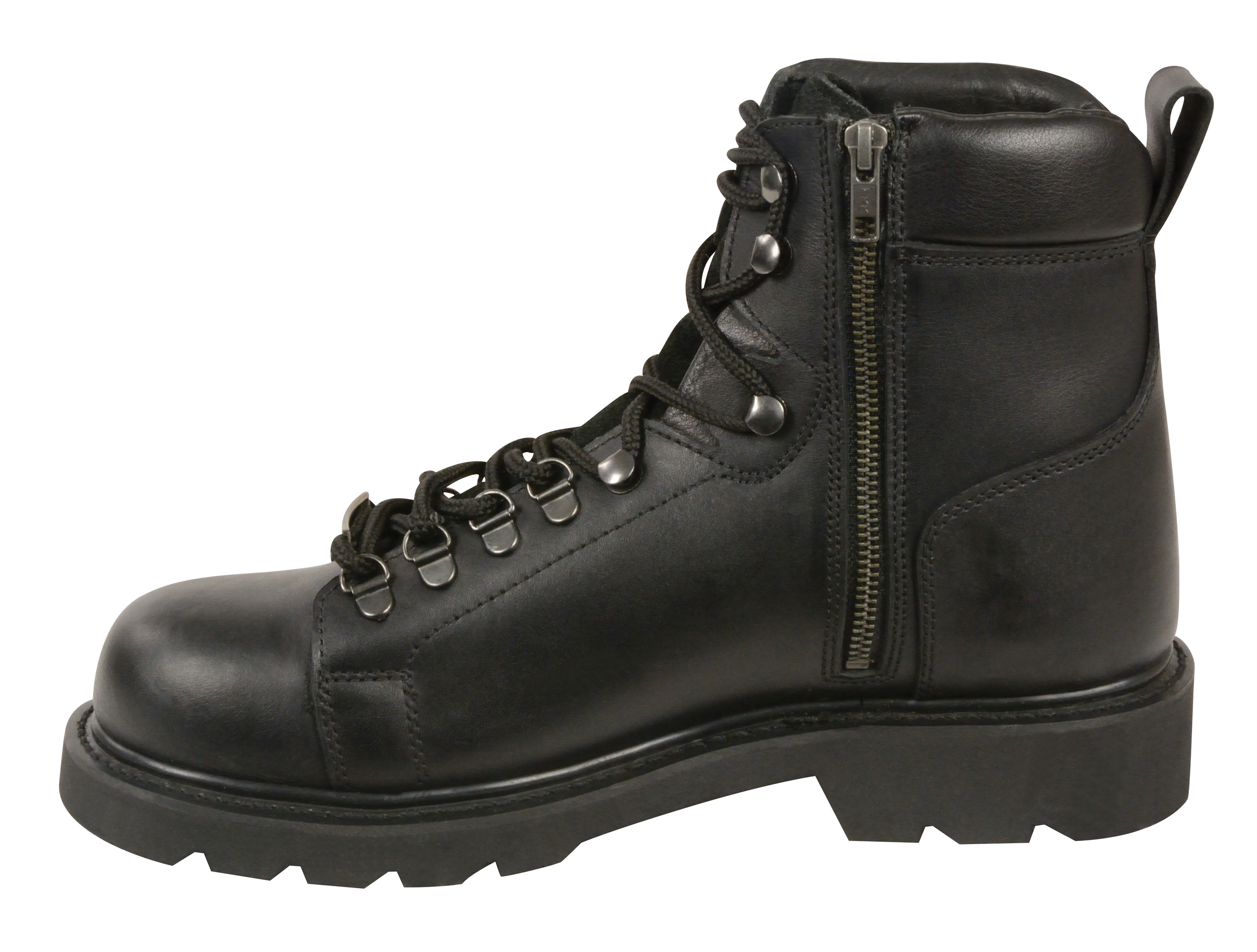 Men S Motorbike Real Leather Lace To Toe Boot With Side