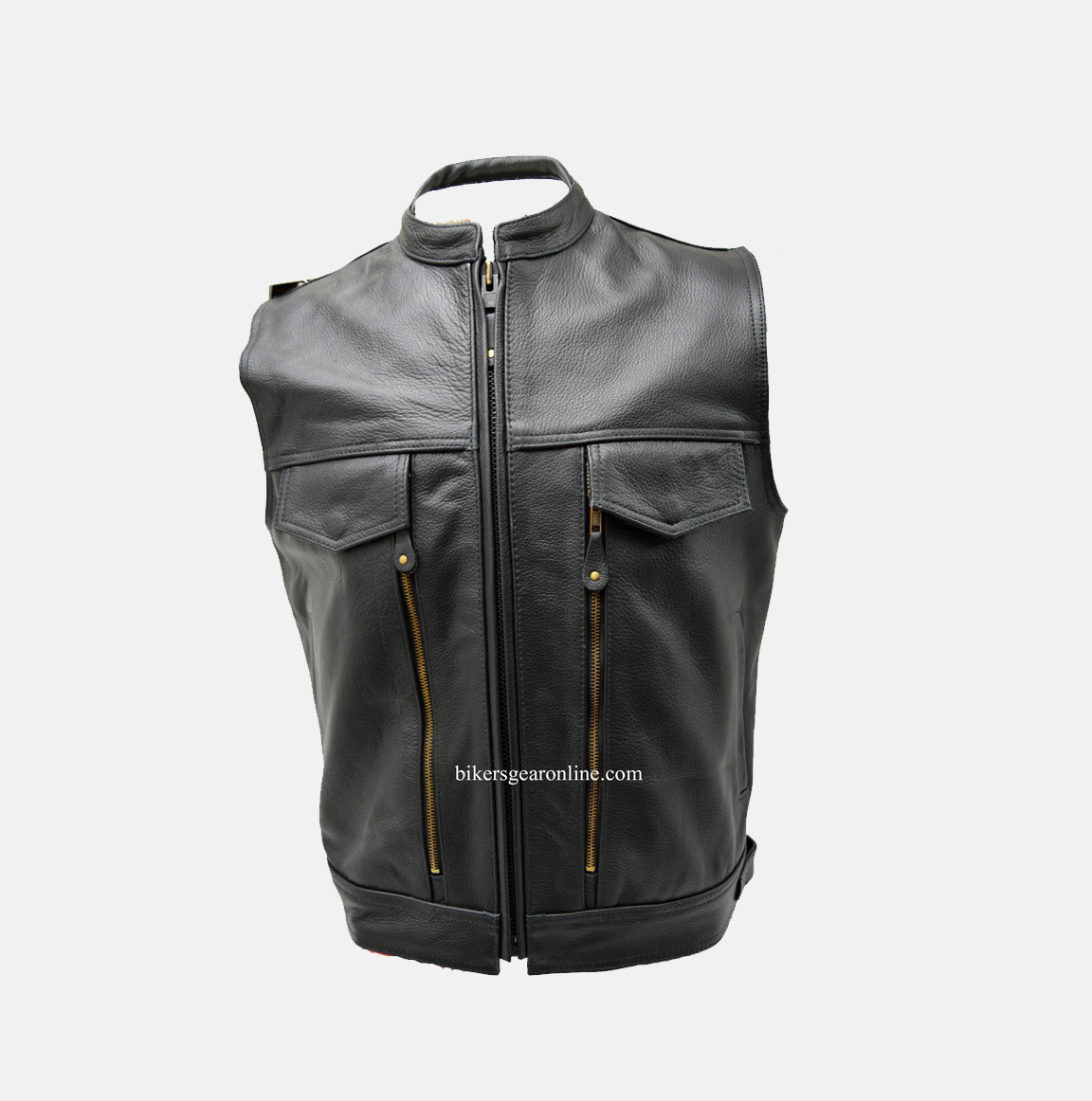 a36e418a3 Mens Motorcycle Vest Leather Made With Gun Pocket - Extreme Biker Wear