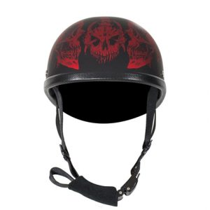 matte-burgundy-novelty-motorcycle-helmet