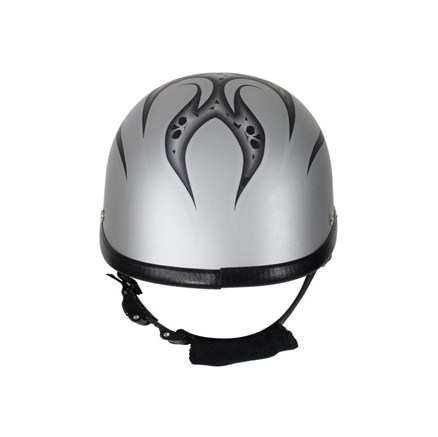 matte-silver-motorcycle-novelty-helmet-with-burning-skull-2