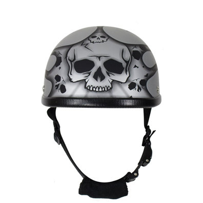 matte-silver-motorcycle-novelty-helmet-with-burning-skull