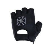 Motorcycle Fingerless Gloves With Chopper Cross