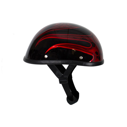 shiny-burgundy-motorcycle-helmet