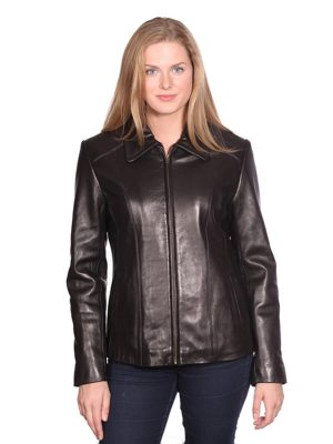 NUBORN LEATHER LISA LEATHER SCUBA JACKET