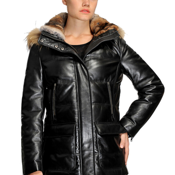 Original Goose Emily Leather/Down Filled Parka