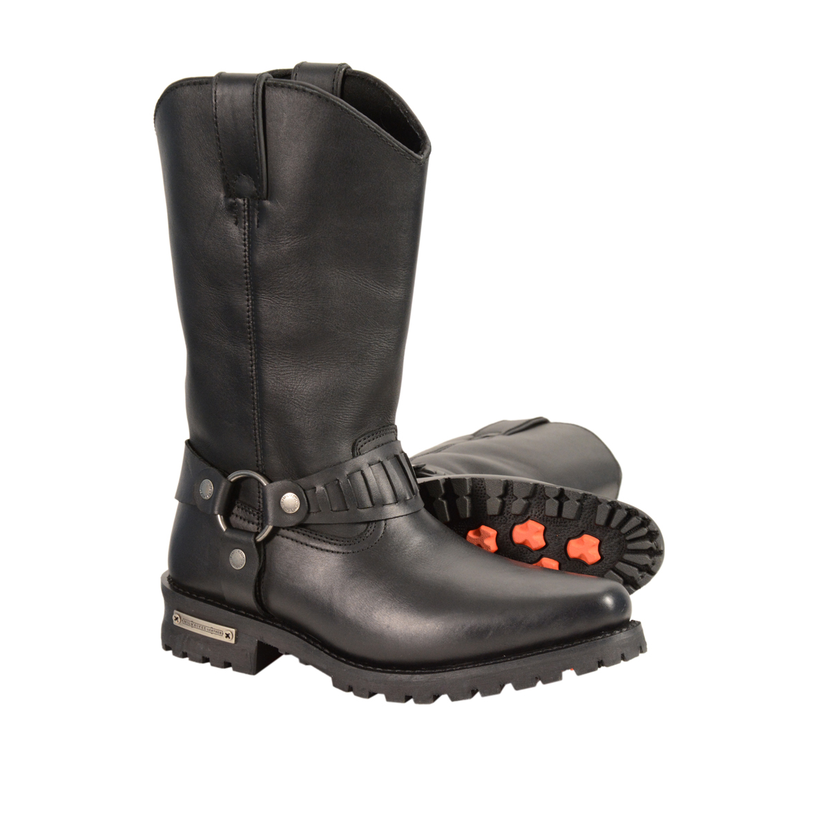 Men S Real Leather J Toe Cowboy Motorcycle Harness Boots