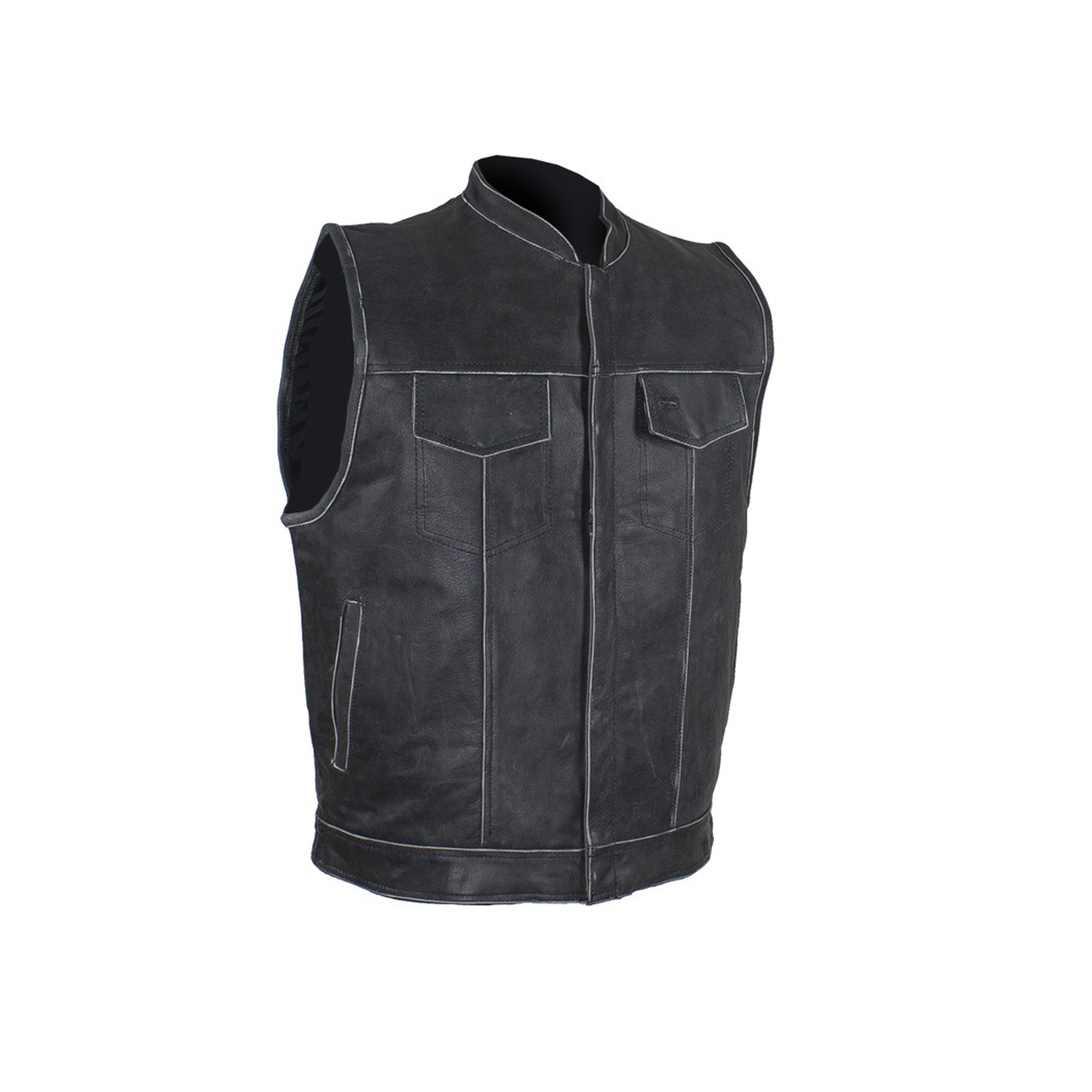 Dream Apparel Mens Leather Vest With Concealed Carry Pocket /& Black Liner MV320-11-50