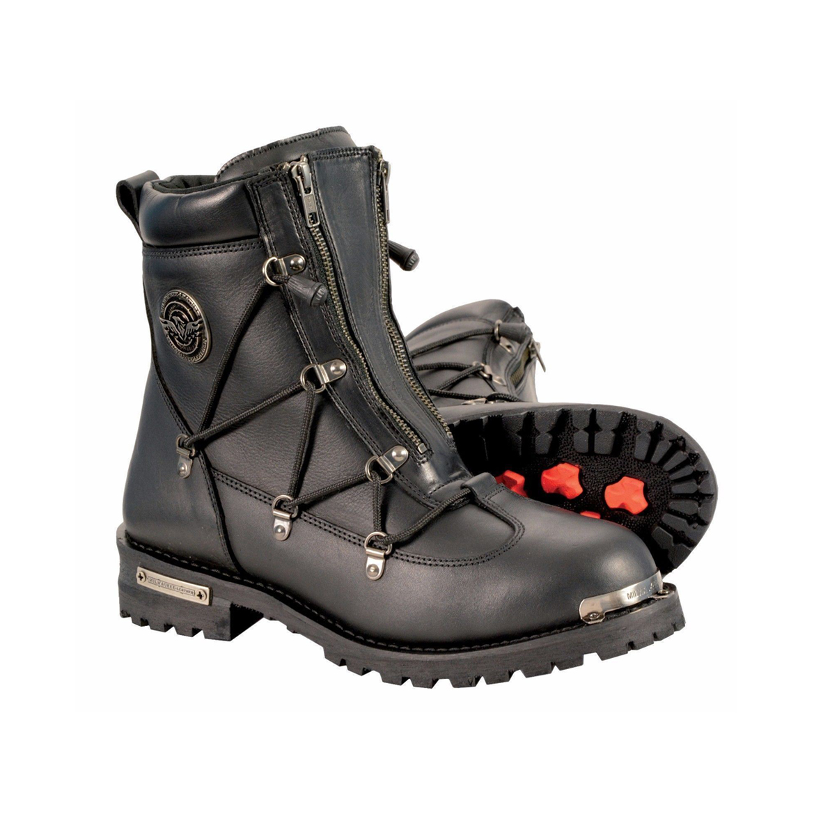 Men S Riding Motorcycle Leather Boot Waterproof Front