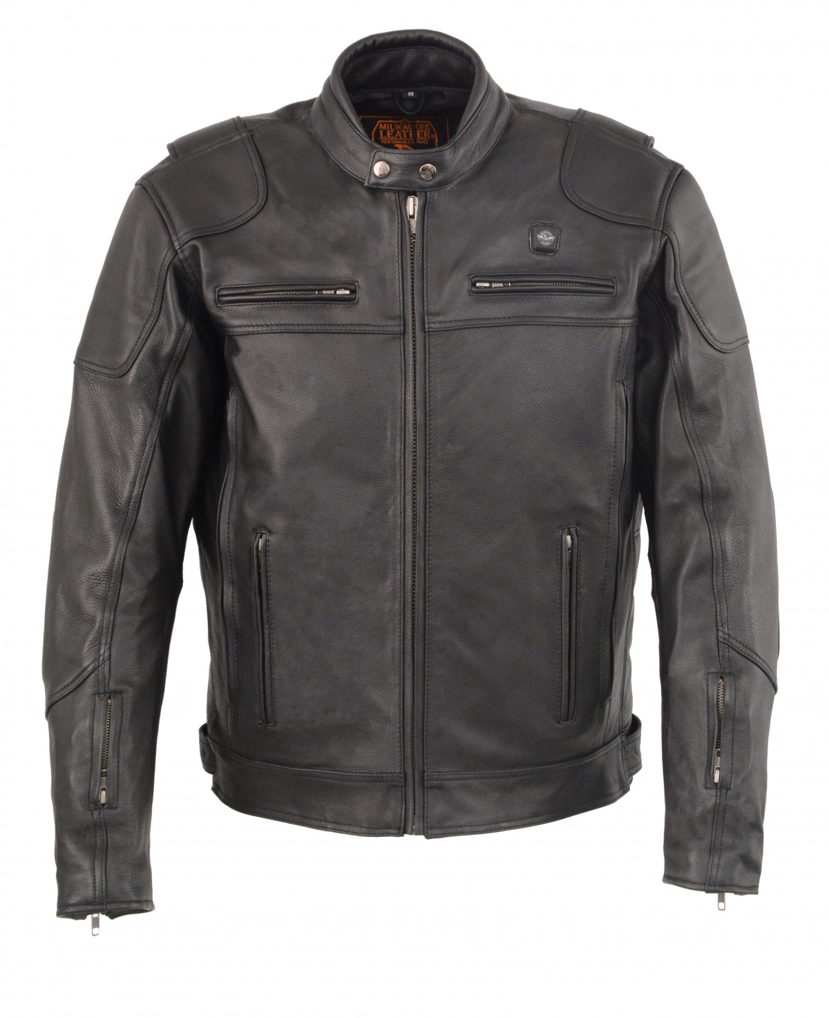 Milwaukee Leather Men S Vented Scooter Jacket With Heated