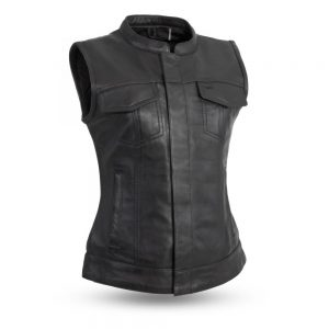 LADIES LEATHER VEST – LUDLOW