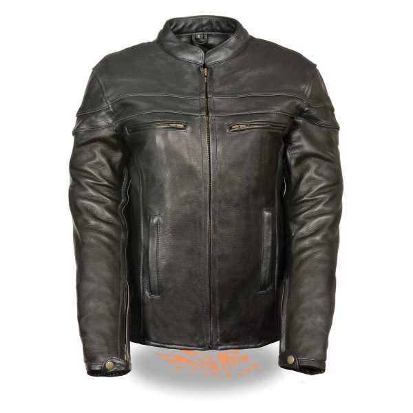 Ladies Black Sporty Scooter Crossover Leather Jacket