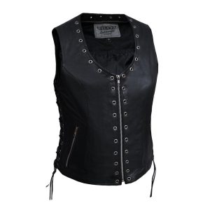 Ladies PREMIUM zippered eyelet vest
