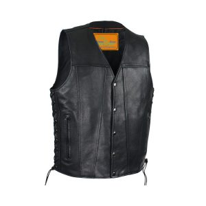 Mens Leather Vest With Concealed Gun Pockets