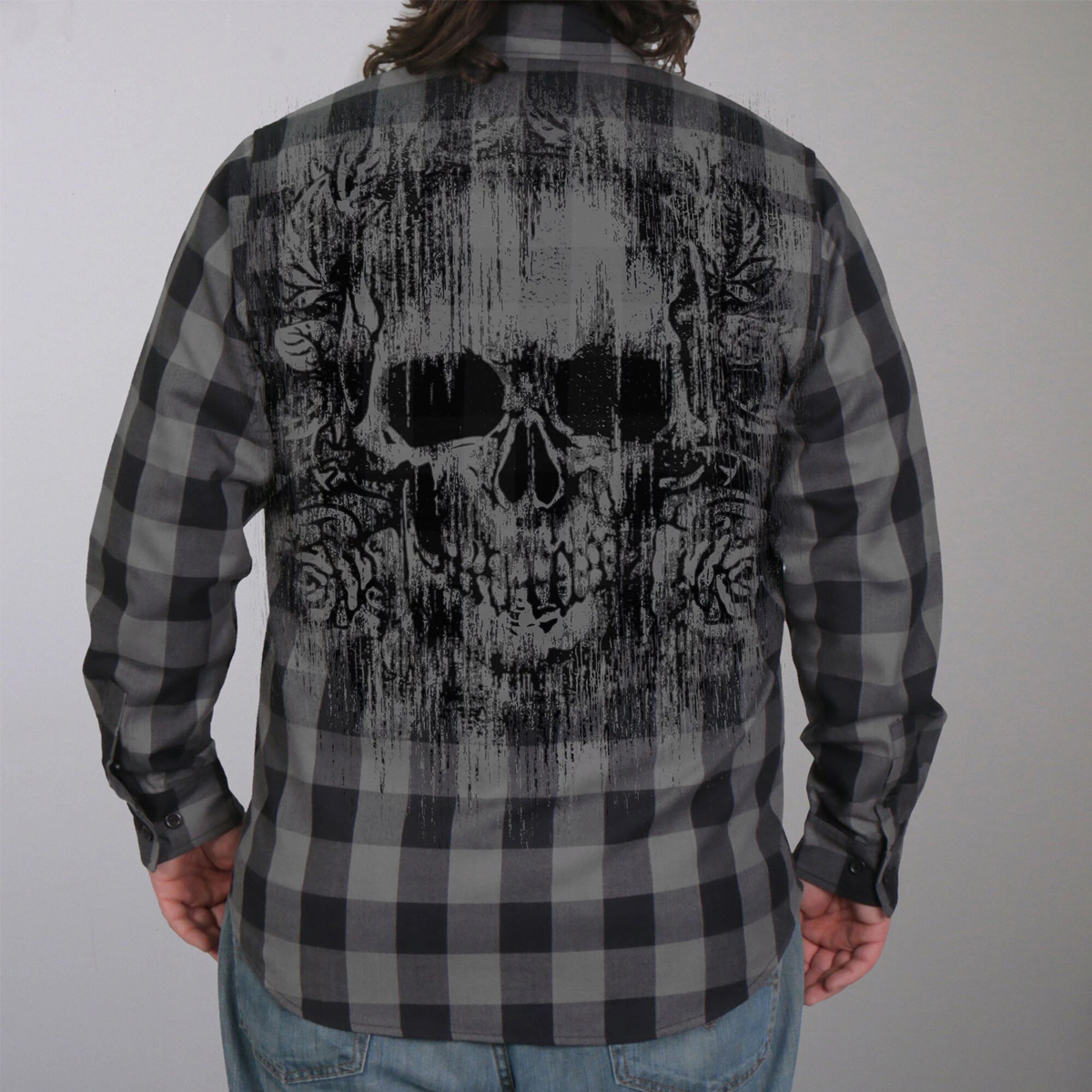 Hot Leathers Flannel Long Sleeve Grave Rub