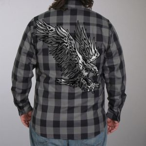 Hot Leathers Flannel Long Sleeve Tribal Eagle