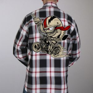 Hot Leathers Flannel Long Sleeve Bobber Monster