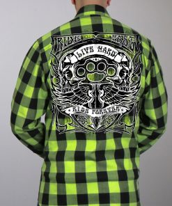 Hot Leathers Flannel Long Sleeve Brass Knuckles