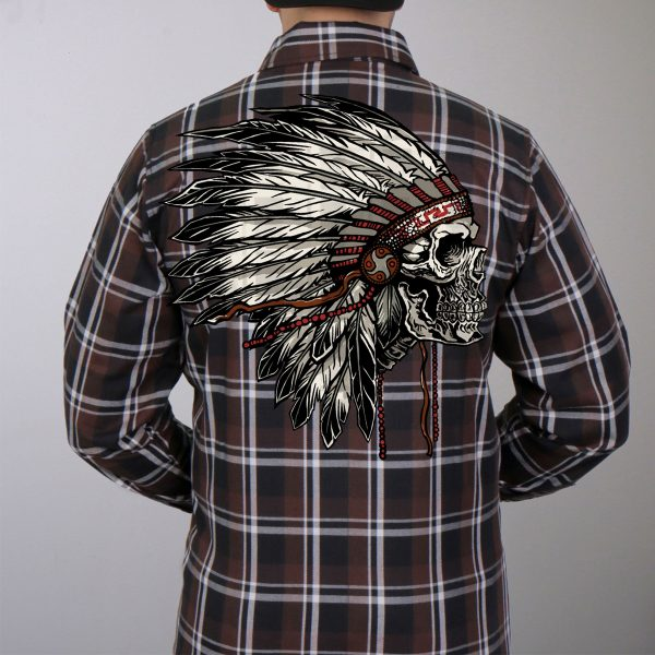 Hot Leathers Flannel Long Sleeve Headdress