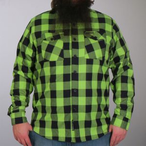 Hot Leathers Black And Green Long Sleeve Flannel
