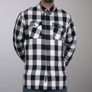 Hot Leathers Black And White Long Sleeve Flannel