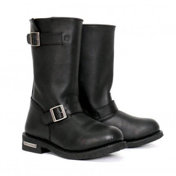 """Hot Leathers Men's 11"""" Tall Round Toe Engineer Boots"""