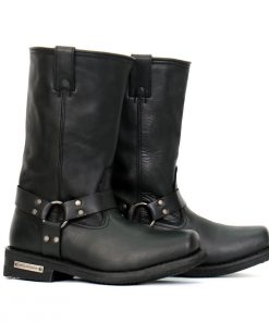 """Hot Leathers Men's 11"""" Black Harness Boots"""