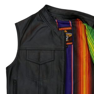 Hot Leathers Vest Mexican Blanket Liner Carry Conceal
