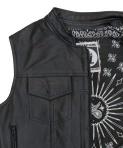 Hot Leathers Vest Paisley Black Carry Conceal